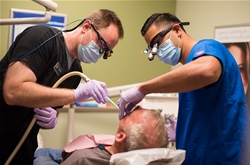 CDMA students provides free dental services to Arizona veterans at a similar event in March.