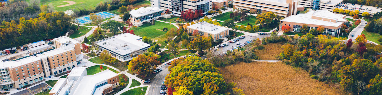 Aerial of Downers Grove Campus
