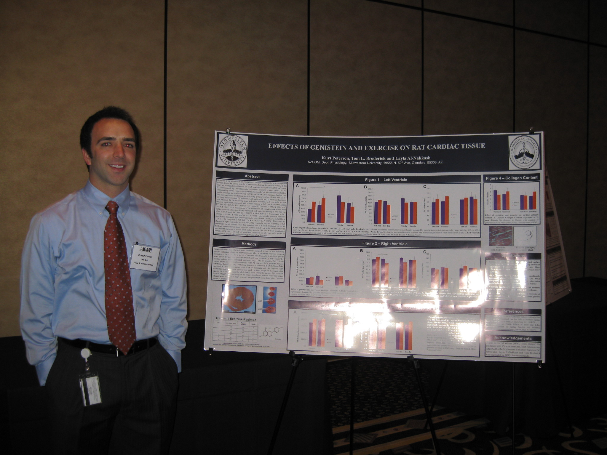 Kurt Peterson MSII- presenting data at ACP 2012