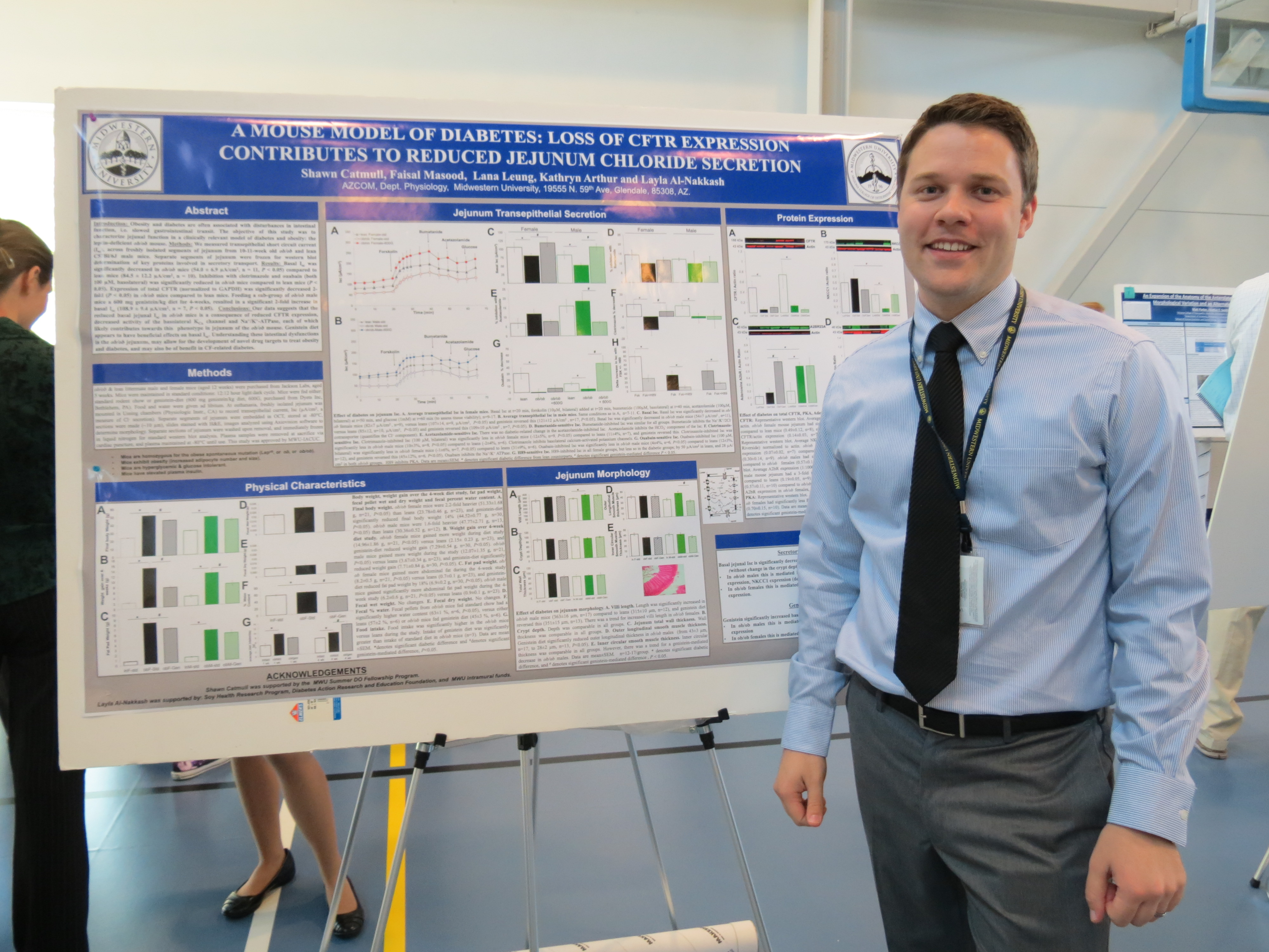 Shawn Catmull MSII - presenting his data at MWU Research Day 2016