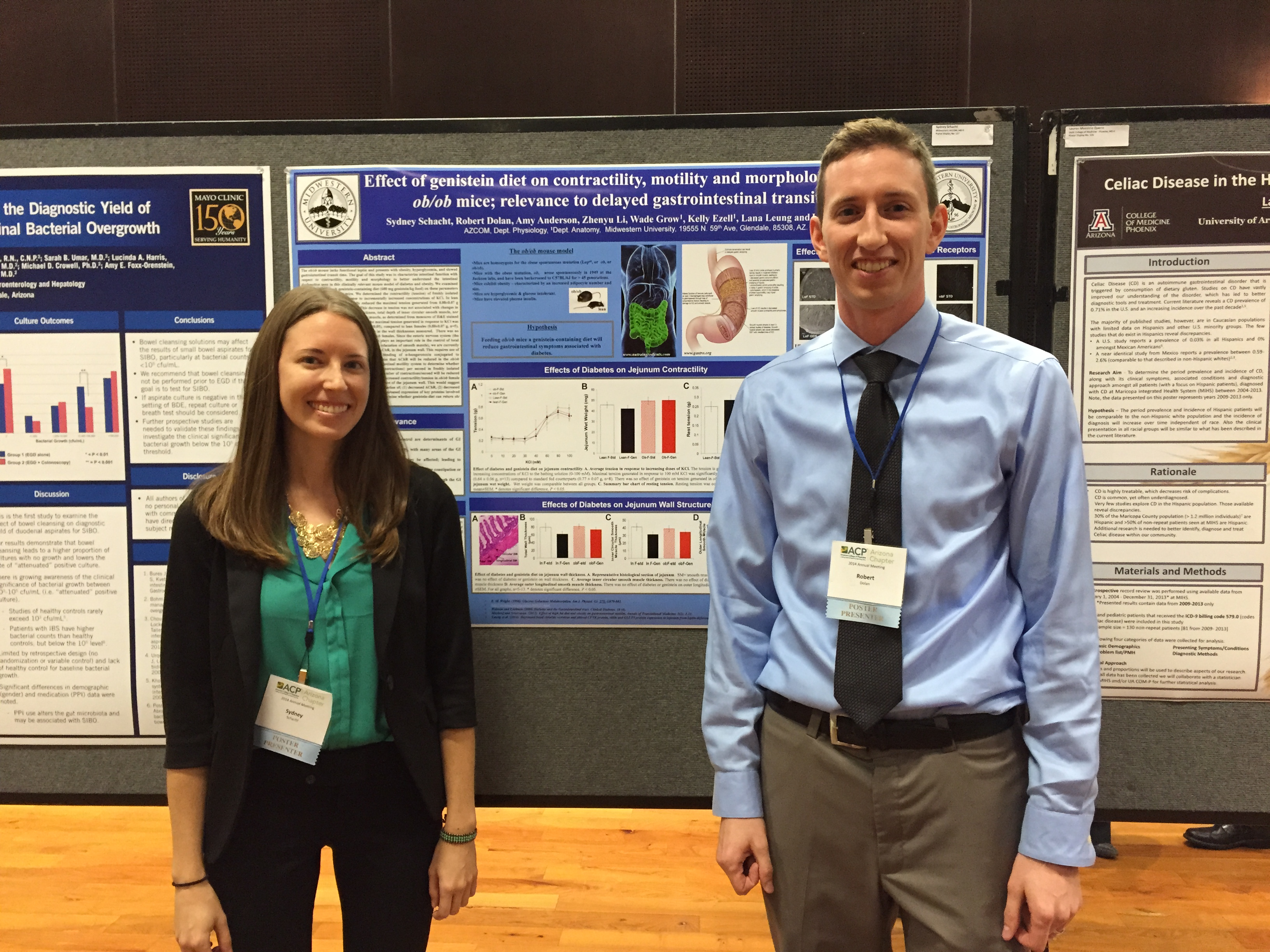 Sydney Schacht MSII and Robert Dolan MSII - presenting data at ACP 2014