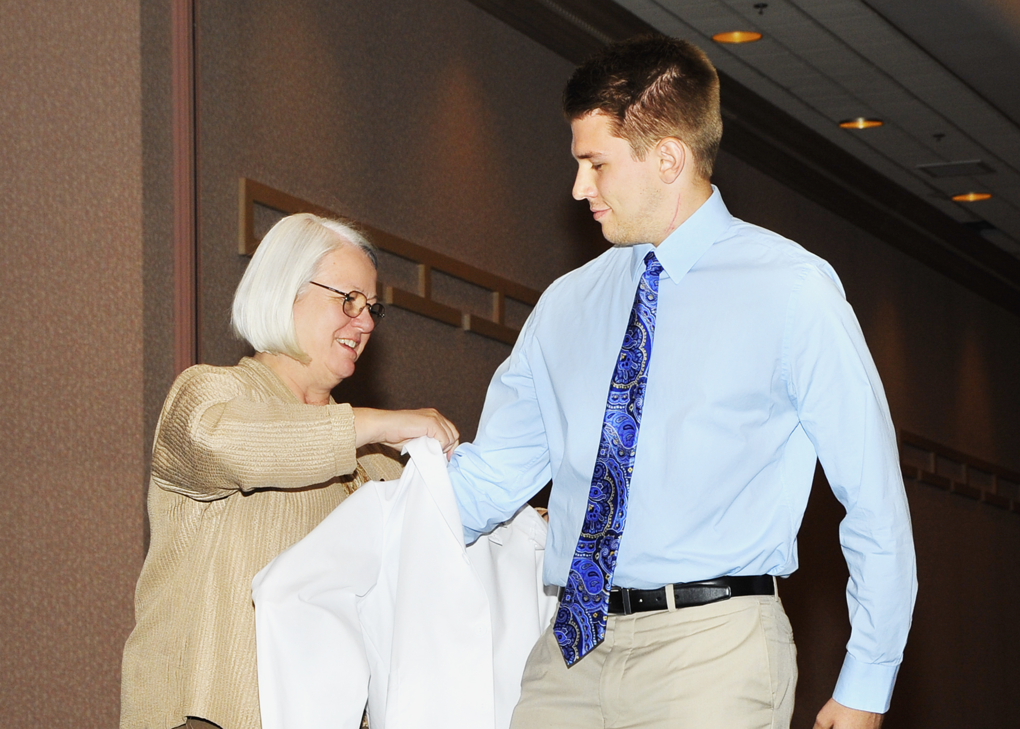 white coat ceremony marks start of professional careers